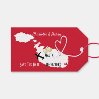 Hochzeiten im Ausland Malta Save the Date Geschenkanhänger