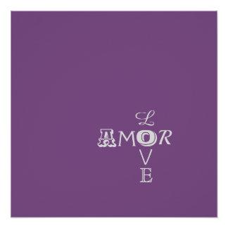 Hochzeitguestbook-Leinwand - Amor/Liebe Poster