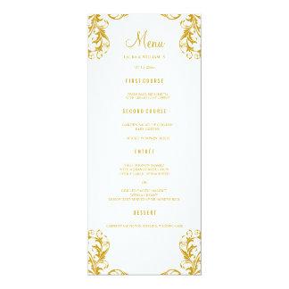 Hochzeits-Abendessen-Menü kardiert | 10,2 X 23,5 Cm Einladungskarte
