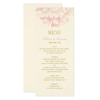 Hochzeits-Abendessen-Menü kardiert   rosa 10,2 X 23,5 Cm Einladungskarte