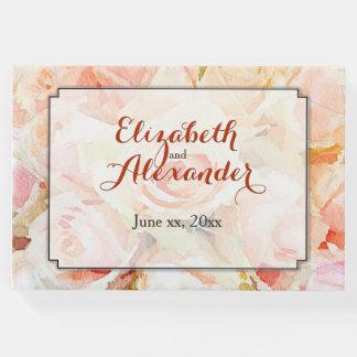 Hochzeits-Andenken-Aquarell mit Blumen Gästebuch