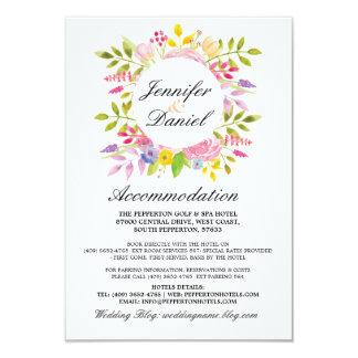 Hochzeits-Anpassungs-Karten-Blumendetail-Kranz 8,9 X 12,7 Cm Einladungskarte