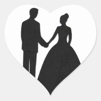 Hochzeits-Aufkleber Herz-Aufkleber