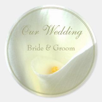 Hochzeits-Aufkleber Runder Aufkleber