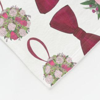 Hochzeits-Bell-BrautRosen-Blumen Bowtie Decke Fleecedecke