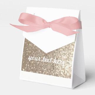 Hochzeits-Bevorzugungs-Gold u. rosa kundengerechte Geschenkschachtel