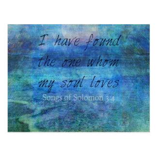 Hochzeits-Bibel-Vers-Kunst-Schriftsozeanmeer Postkarte