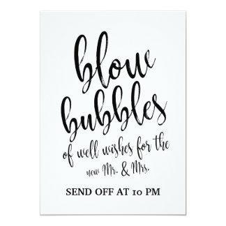 Hochzeits-Blasen senden weg vom erschwinglichen Karte