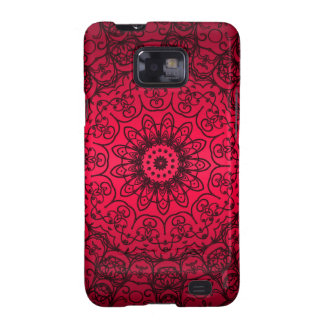 Hochzeits-Braut-elegante Girly schwarze rote franz Samsung Galaxy S2 Hülle