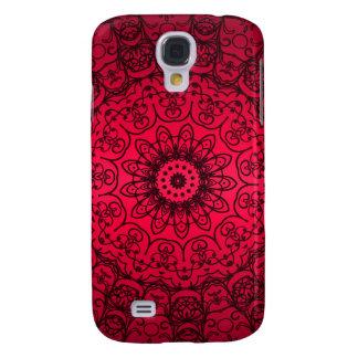Hochzeits-Braut-elegante Girly schwarze rote Galaxy S4 Hülle