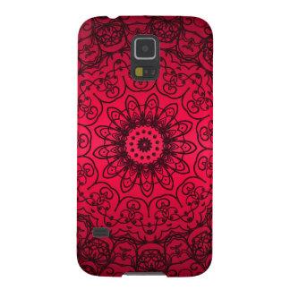 Hochzeits-Braut-elegante Girly schwarze rote Hülle Fürs Galaxy S5