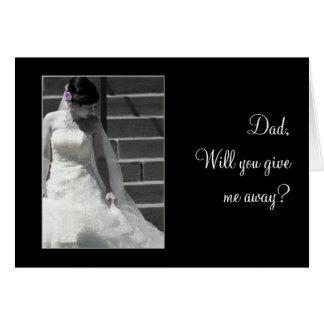 Hochzeits-Braut Karte