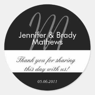 Hochzeits-Braut u Bräutigam danken Ihnen Aufkleb
