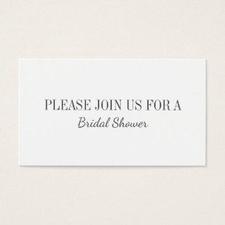 Hochzeits-Brautparty-Ebenen-Einladungs-Karte Visitenkarte