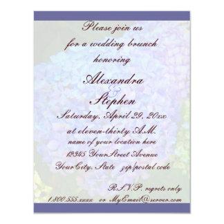Hochzeits-Brunch-BlauHydrangea 10,8 X 14 Cm Einladungskarte