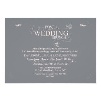 Hochzeits-Brunch in der grauen Einladung