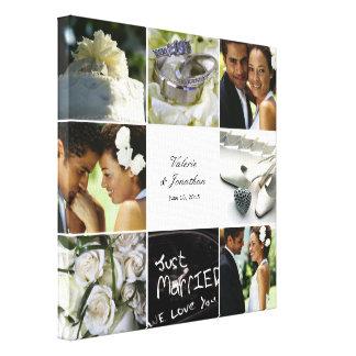 Hochzeits-Collage eingewickelte Leinwand - Weiß Leinwanddrucke