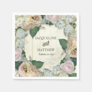 Hochzeits-Dekor-modernes Vintages hübsches mit Papierservietten