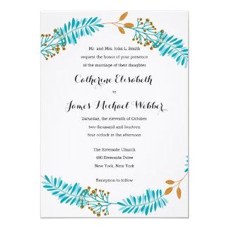 Hochzeits-Einladung bewirtet von den Eltern der 12,7 X 17,8 Cm Einladungskarte