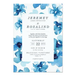 Hochzeits-Einladung *Blue Garden* 12,7 X 17,8 Cm Einladungskarte