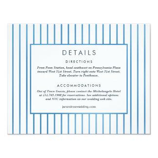 Hochzeits-Einladung *Blue Garden* Einzelkarte Karte