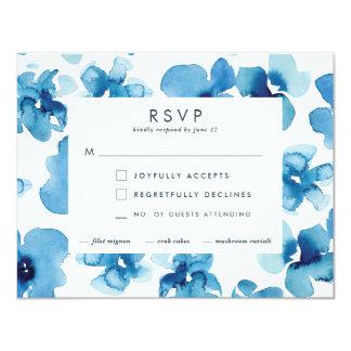 Hochzeits-Einladung *Blue Garden* UAWG 10,8 X 14 Cm Einladungskarte