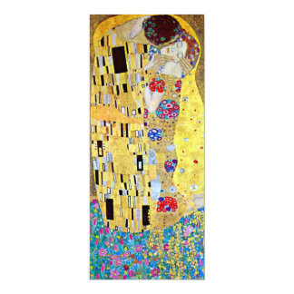 Hochzeits-Einladung; Der Kuss durch Gustav Klimt 10,2 X 23,5 Cm Einladungskarte