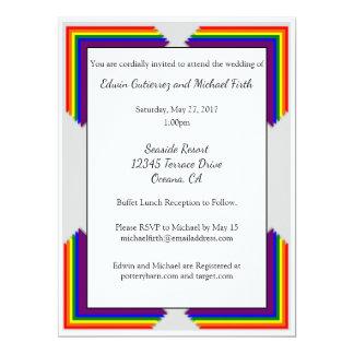 Hochzeits-Einladung des Regenbogen-LGBT Karte