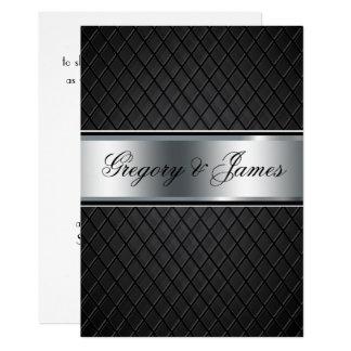 Hochzeits-Einladung, elegantes Schwarzes und Karte