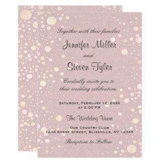 Hochzeits-Einladung | erröten Blasen Karte