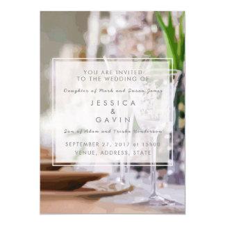 Hochzeits-Einladung extravagant 12,7 X 17,8 Cm Einladungskarte