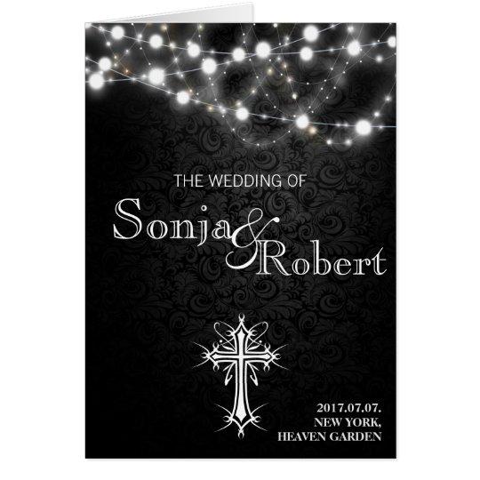 Hochzeits-Einladung - gotische weiße Lichter des Karte