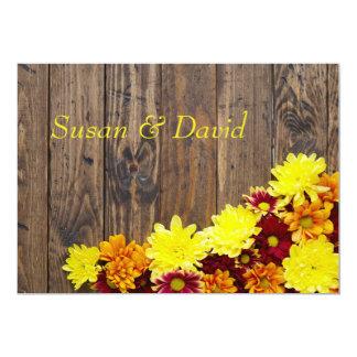 Hochzeits-Einladung--Herbst-Hochzeit Karte