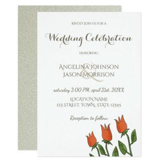 Hochzeits-Einladungs-BlumenAquarell-Frühlings-Weiß Karte