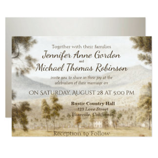 Hochzeits-Einladungs-friedliche Wiese Karte