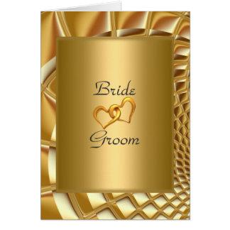 Hochzeits-Einladungs-Gold Karte