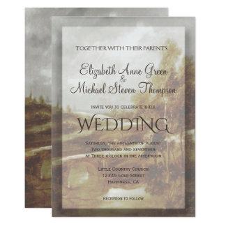 Hochzeits-Einladungs-Land-Bach Karte