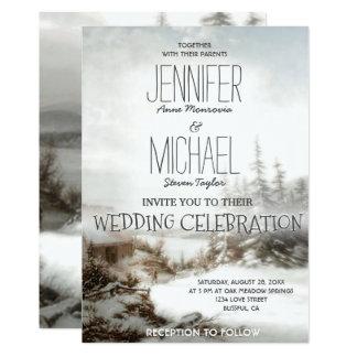 Hochzeits-Einladungs-Land-Schnee Karte
