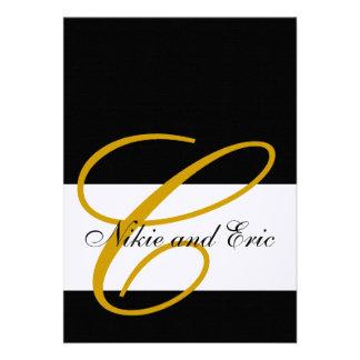 Hochzeits-Einladungs-Monogramm nennt das Individuelle Ankündigskarten