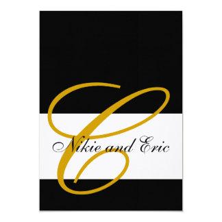 Hochzeits-Einladungs-Monogramm nennt das 12,7 X 17,8 Cm Einladungskarte