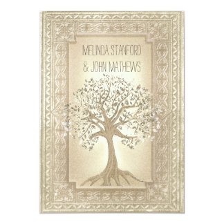 Hochzeits-Einladungs-Stammbaum Karte