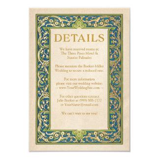 Hochzeits-Einzelkarten-| belichteter Garten Karte
