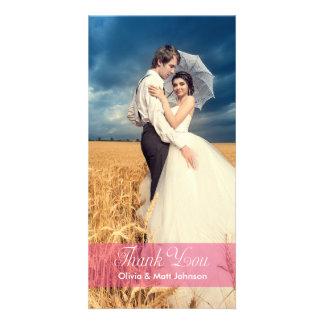 Hochzeits-Eleganz - danke Foto-Karte Individuelle Foto Karte