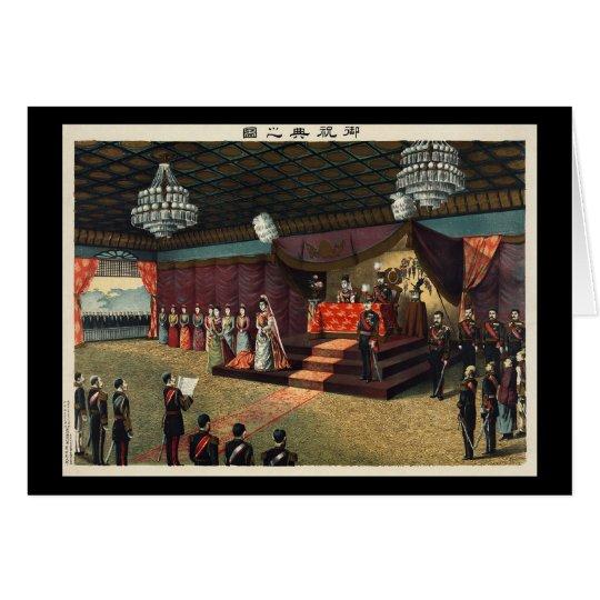Hochzeits-Empfang von Kronprinze Yoshihito Karte