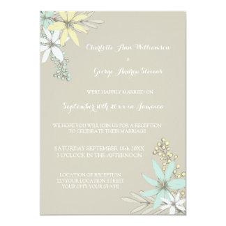 Hochzeits-Empfangs-nur rustikale Frühlings-Blumen 12,7 X 17,8 Cm Einladungskarte