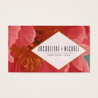 Hochzeits-Empfangs-Rosen-GoldGlitter-rote Visitenkarte