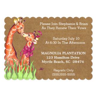 Hochzeits-Erneuerungs-Einladung 12,7 X 17,8 Cm Einladungskarte