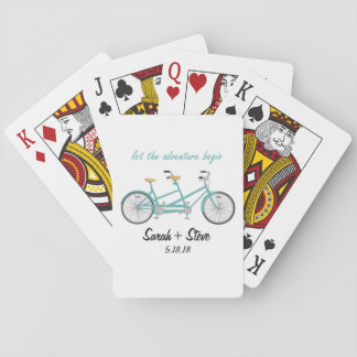 Hochzeits-Fahrrad-kundenspezifische Spielkarten