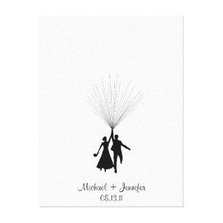 Hochzeits-Fingerabdruck-BallonGuestbook Gespannte Galeriedrucke