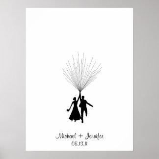Hochzeits-Fingerabdruck-BallonGuestbook Poster